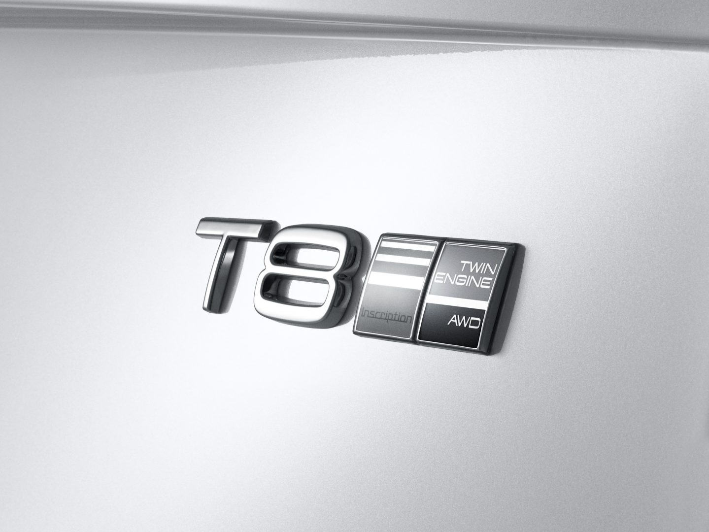 Emblem Twin Engine T8 Volvo Inscription White